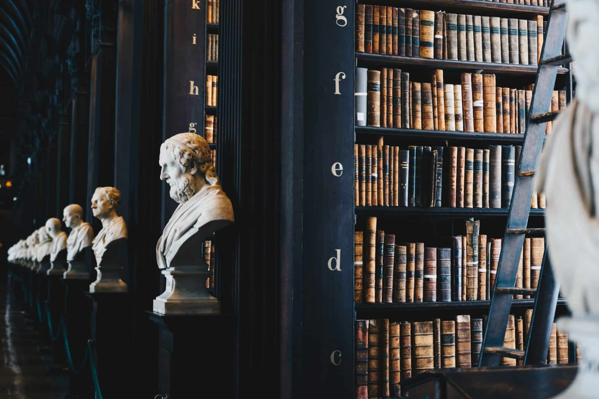 Library books - maths and history