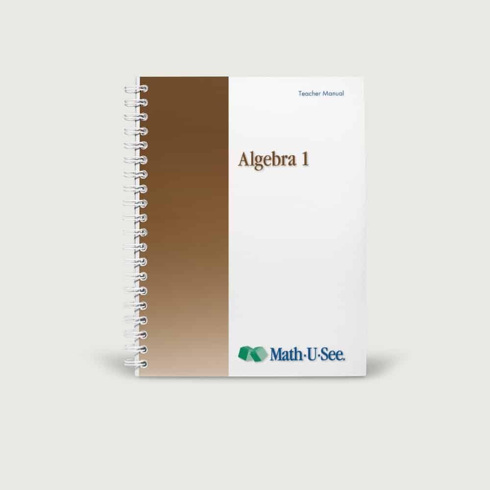Instruction Manual - Algebra 1 level
