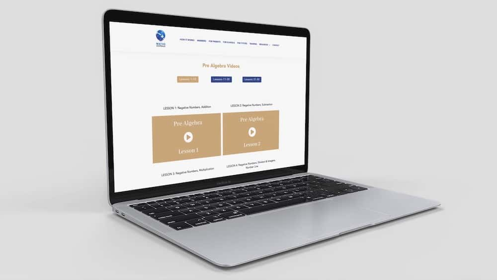 Online Access - Pre Algebra level