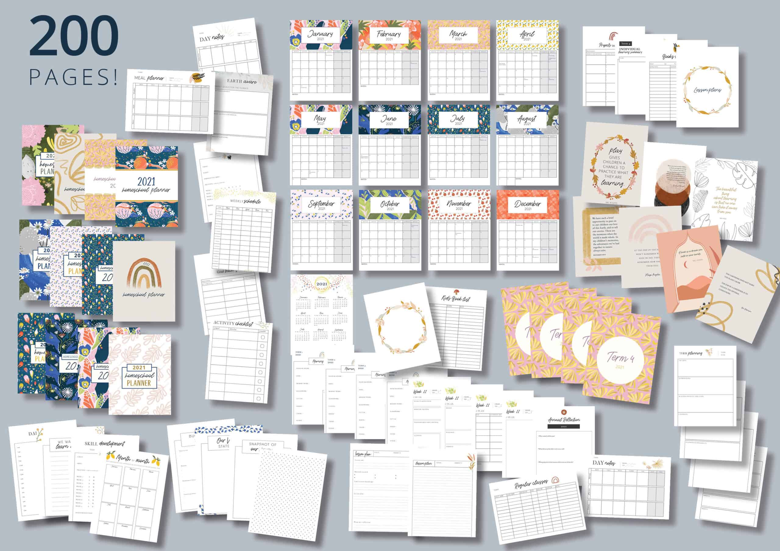 Mulberry Planner - 200 templates
