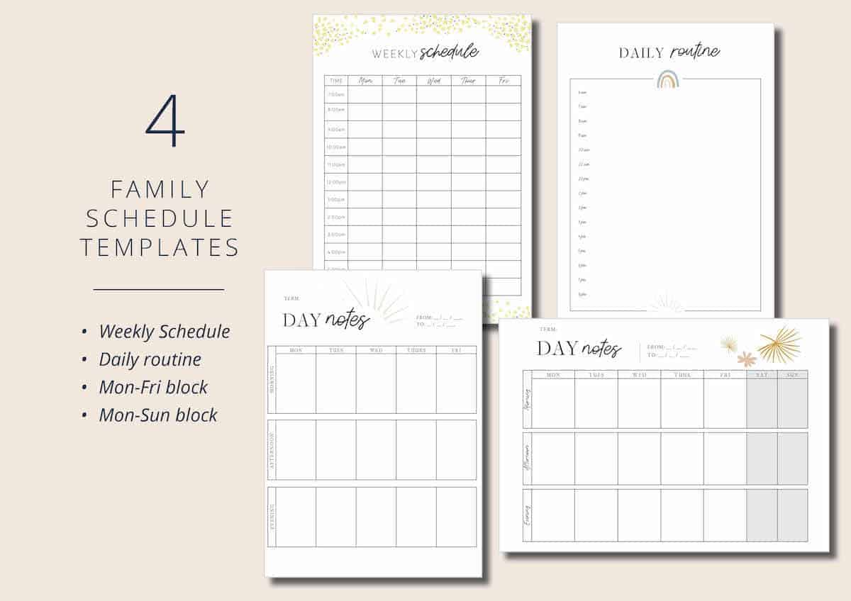 Mulberry Planner - Family Schedule and Daily Routines