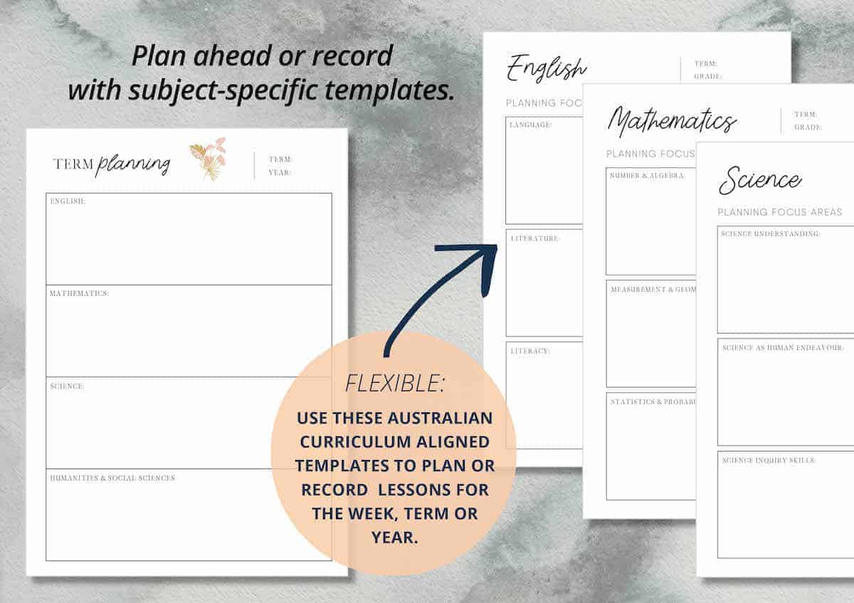 Mulberry Planner - Subject Planning